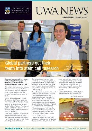 Issue 17. 1 November 2010.pdf - UWA Staff - The University of ...