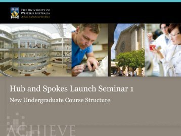 Degree specific major - UWA Staff - The University of Western ...