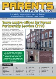 Parents in the Know April 2013 - Staffordshire County Council