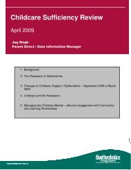 ChildcareSufficiencyReview_April09 - Staffordshire County Council