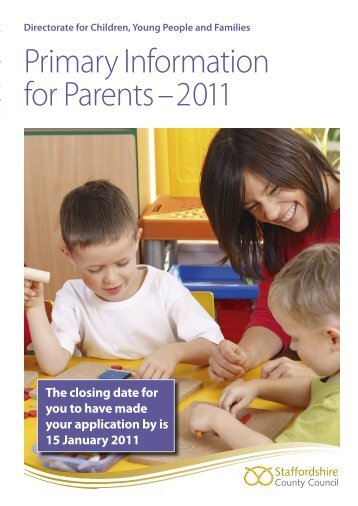 Primary Admission Booklet 2011 - RM Learning Platform