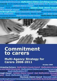 Carersstrategy20082011 - Staffordshire County Council