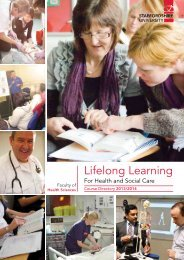 2013-14 Lifelong Learning Brochure - Staffordshire University