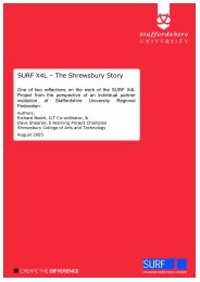 SURF X4L – The Shrewsbury Story - Staffordshire University