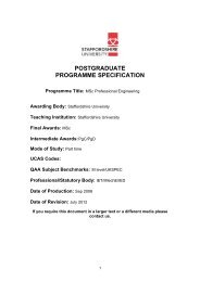 MSc Professional Engineering Programme Specification