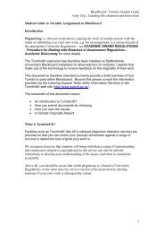 Student guide to Turnitin assignments in Blackboard - Staffordshire ...