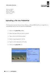 Uploading a file into PebblePAD