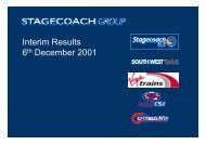Interim Results 6th December 2001 - Stagecoach Group
