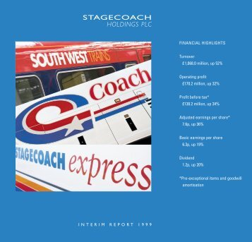 holdings plc - Stagecoach Group