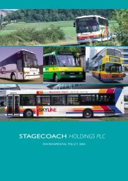 ENVIRONMENTAL POLICY 2000 - Stagecoach Group