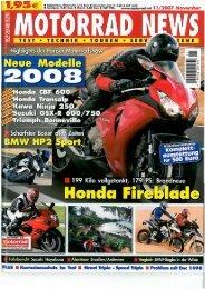 Motorrad News, Ausgabe 11/2007 - Stahlbus