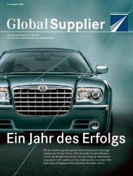 GlobalSupplier Ein Jahr des Erfolgs - Daimler