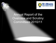 Overview and Scrutiny Committees Annual Report 2010-11