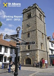 Annual Parking Report 2011/2012 - St Albans City & District Council