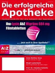 Ausgabe 09.2011 - Die erfolgreiche  Apotheke