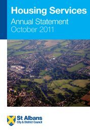 Housing Annual Statement 2011 - St Albans City & District Council