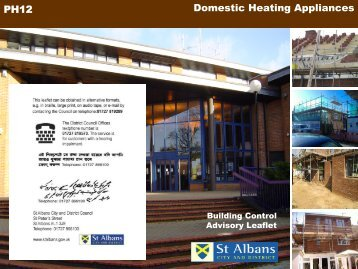 Domestic heating appliances - St Albans City & District Council