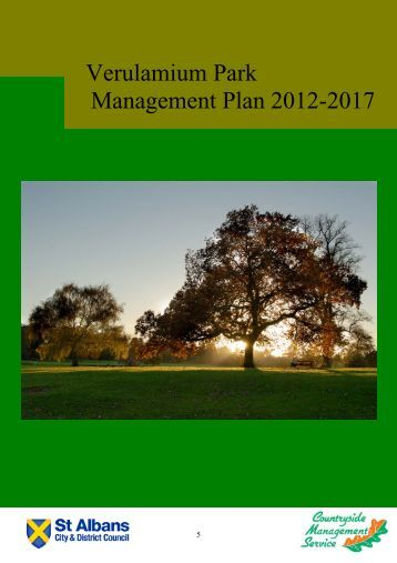Verulamium park management plan 2012-2017 - St Albans City ...