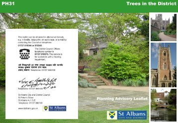 Trees in the district (PDF - 767 kb) - St Albans City & District Council