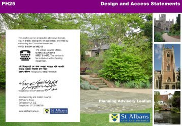 Design and access statements - St Albans City & District Council