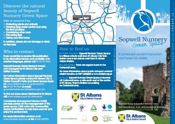 Sopwell Nunnery Green Space Leaflet - St Albans City & District ...