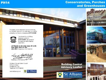 Conservatories, porches, greenhouses - St Albans City & District ...