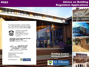 Building regulation applications - St Albans City & District Council