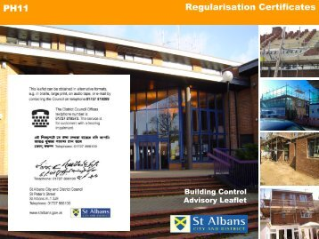 Regularisation certificates - St Albans City & District Council