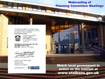Webcasting of planning committee meetings - St Albans City ...