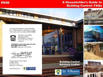 A householders guide to building control - St Albans City & District ...
