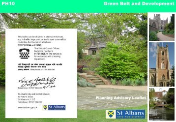 Green Belt and Development - St Albans City & District Council