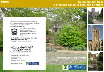 Going smoke-free - St Albans City & District Council