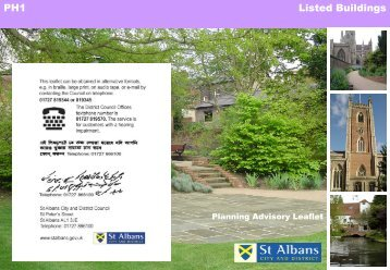 Listed buildings - St Albans City & District Council