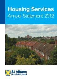 Annual Statement 2012 - St Albans City & District Council