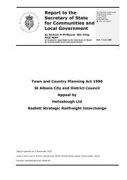 Planning Inspectorate's Report - St Albans City & District Council