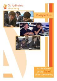 Prospectus - St. Aldhelm's Academy