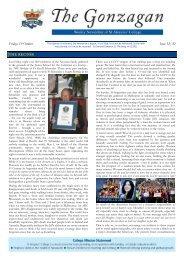 Current Issue - St Aloysius