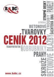 cenik BaBC 2012 - B&BC; a.s.