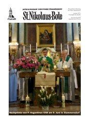 Nachprimiz von P. Augustinus OSB am 9. Juni in Stammersdorf