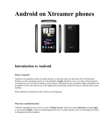 Android on Xtreamer phones