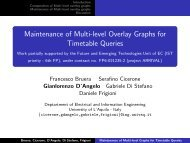 Maintenance of Multi-level Overlay Graphs for Timetable Queries ...