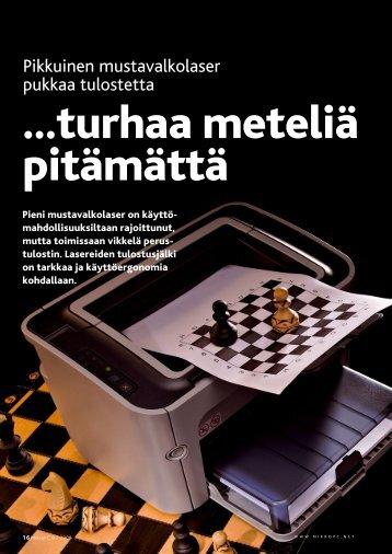 Pikkuinen mustavalkolaser pukkaa tulostetta - MikroPC