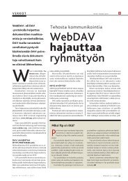 WebDAV hajauttaa ryhmätyön - MikroPC