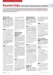 Kuuma linja Keskustelua, kysymyksiä ja vastauksia - MikroPC