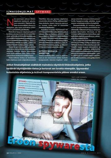 Eroon spywaresta Eroon spyware sta - MikroPC