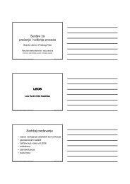 Sustavi za praćenje i vođenje procesa pjjp LEOS Sadržaj predavanja