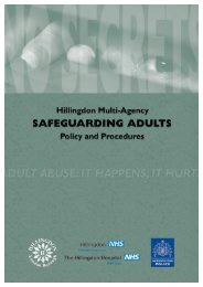 Multi-Agency Safeguarding Adults - London Borough of Hillingdon