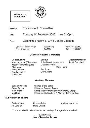 Report - London Borough of Hillingdon