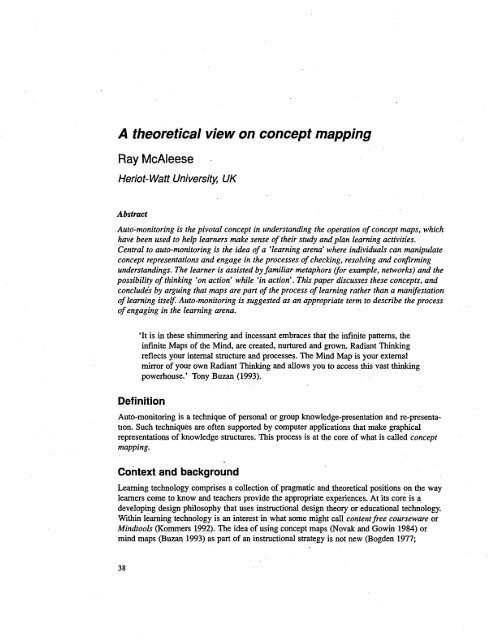 Concept Map Research Paper.A Theoretical View On Concept Mapping Research In Learning