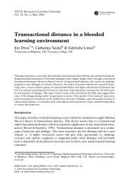 Transactional distance in a blended learning environment
